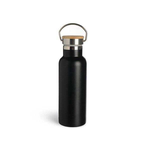 Isolierflasche , schwarz