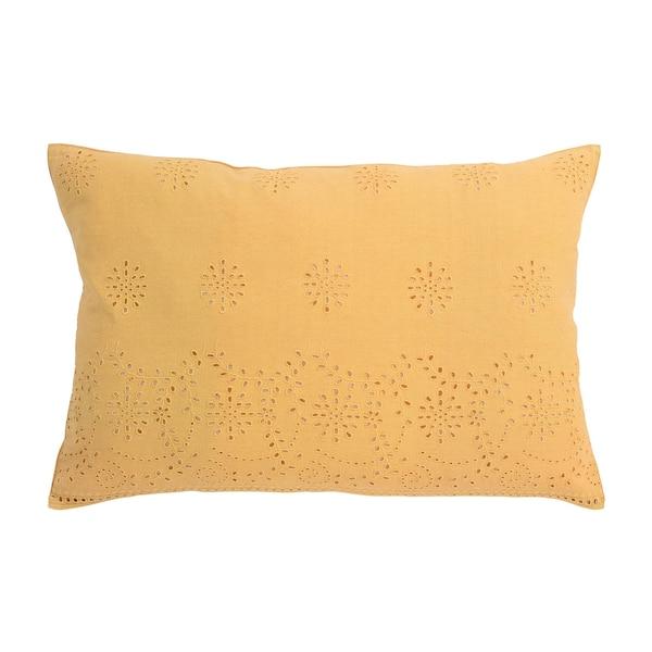Kissenhülle Hole Embroidery, senfgelb