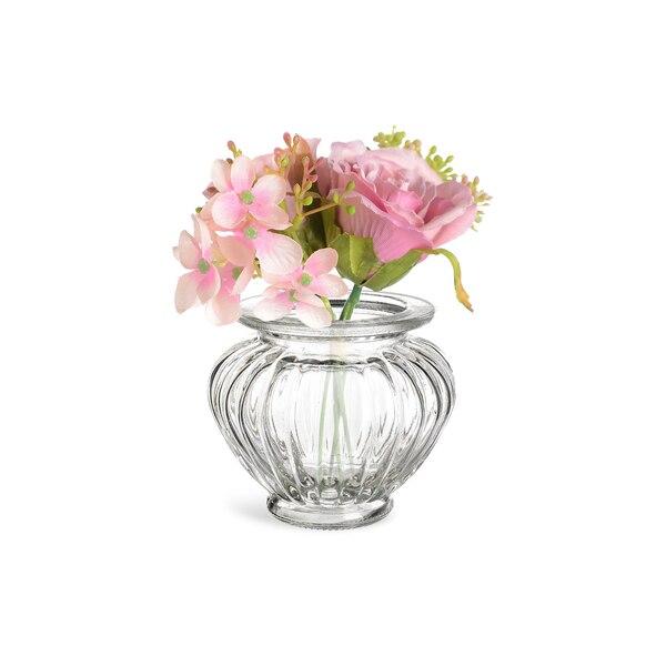 Dekoset Vase mit Blumenbündel, 2-teilig, bunt
