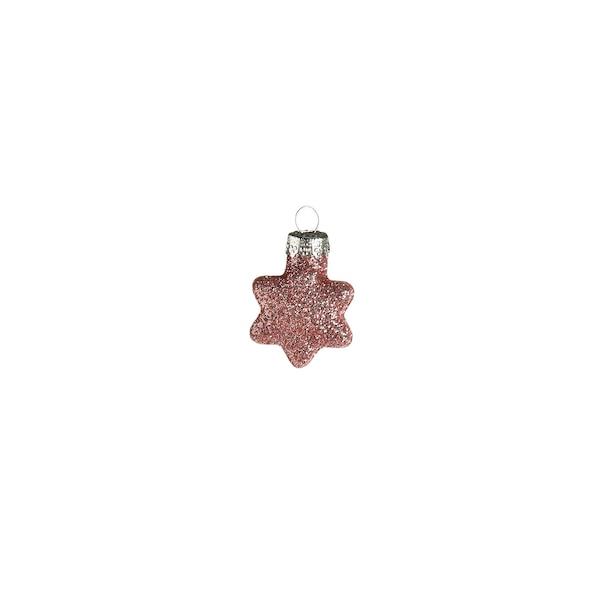 Baumschmuck Glitterstern, rosa