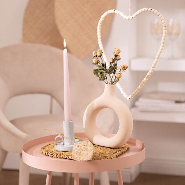 Romantisches Dekoset in Rosé