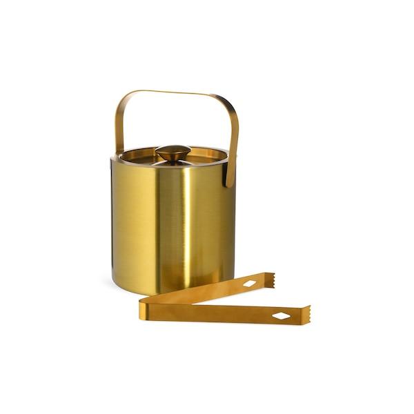 Eiskühler mit Zange, gold