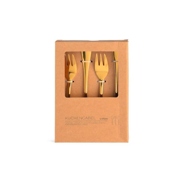 Kuchengabeln Style, gold
