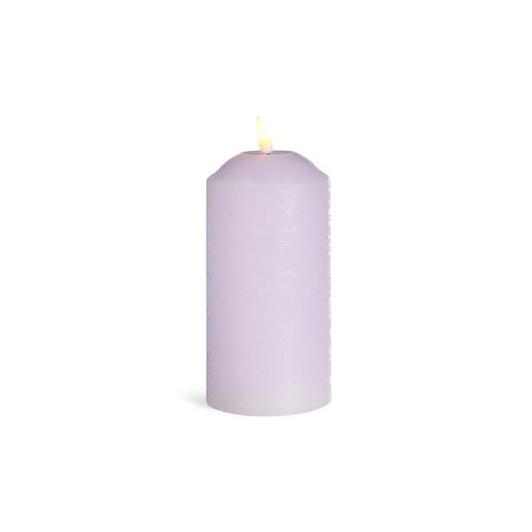 LED-Kerze mit Timer, flieder