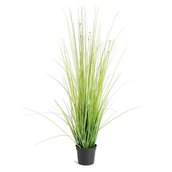 Kunstpflanze Gras im Topf, grün
