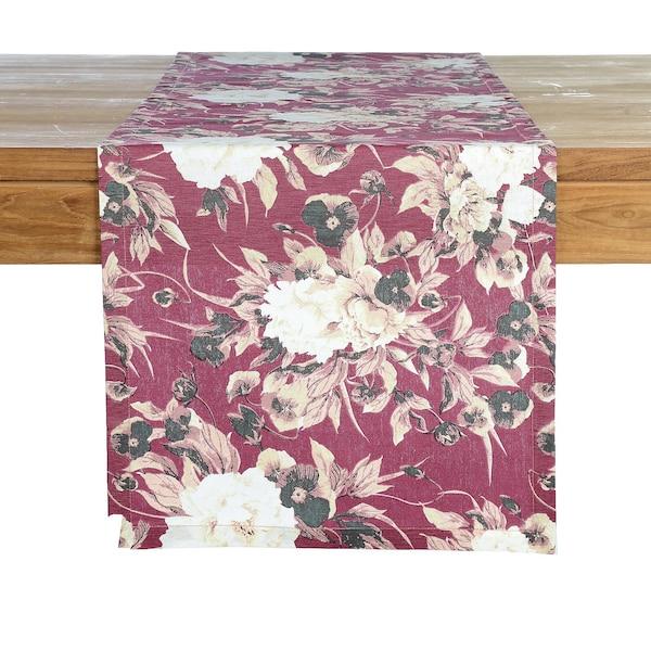 Chemin de table Purple Flowers, baies foncées