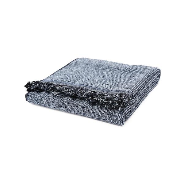 Handtuch Fringes, dunkelblau