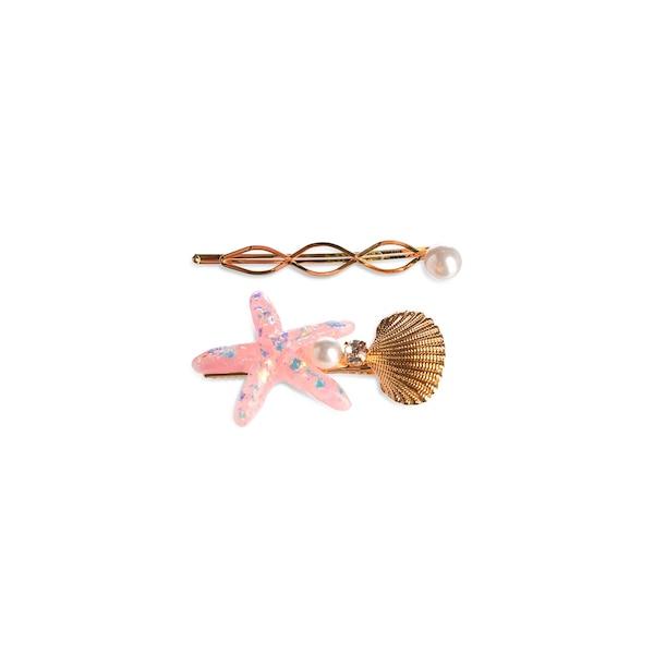Haarspange Shells, gold