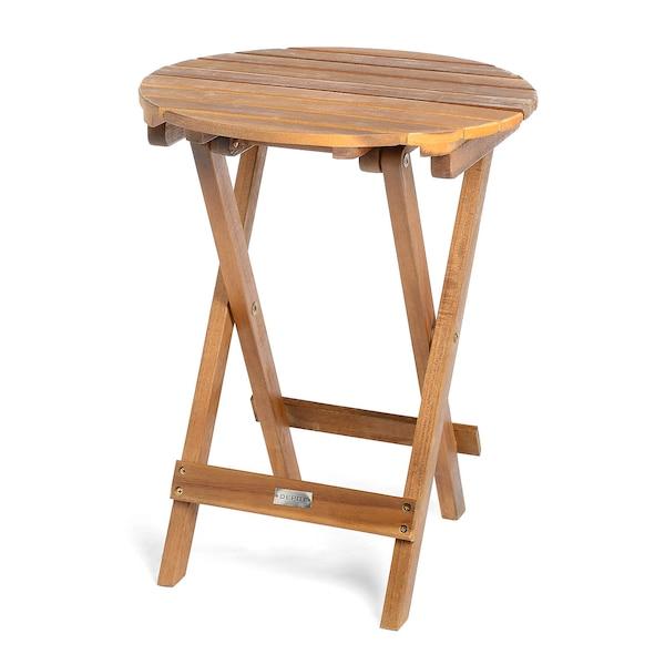 Outdoor-Beistelltisch aus Akazienholz, klappbar, braun