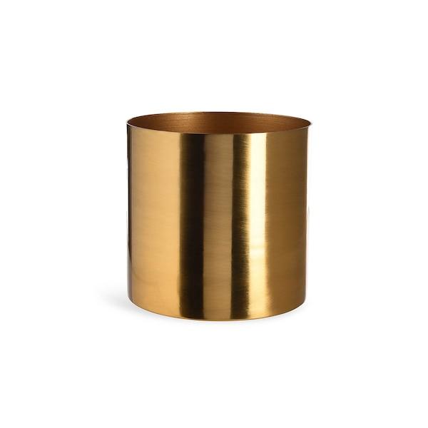 Übertopf aus Metall, gold