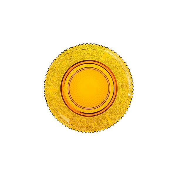 Kerzenteller aus recyceltem Glas, braun