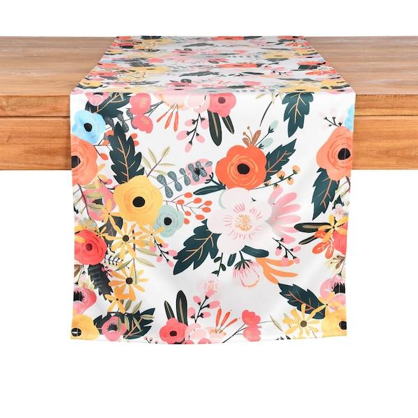 Tischläufer Blumen, bunt