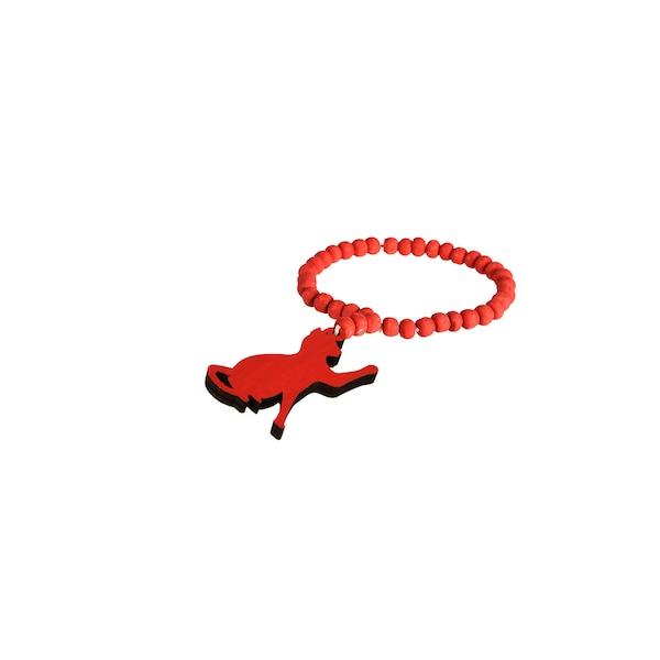 Serviettenring Katze, rot