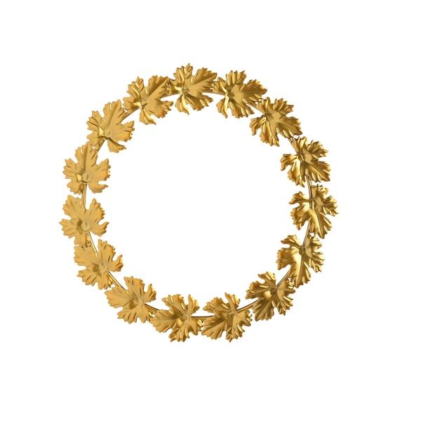 Deko-Kranz Blätter, gold