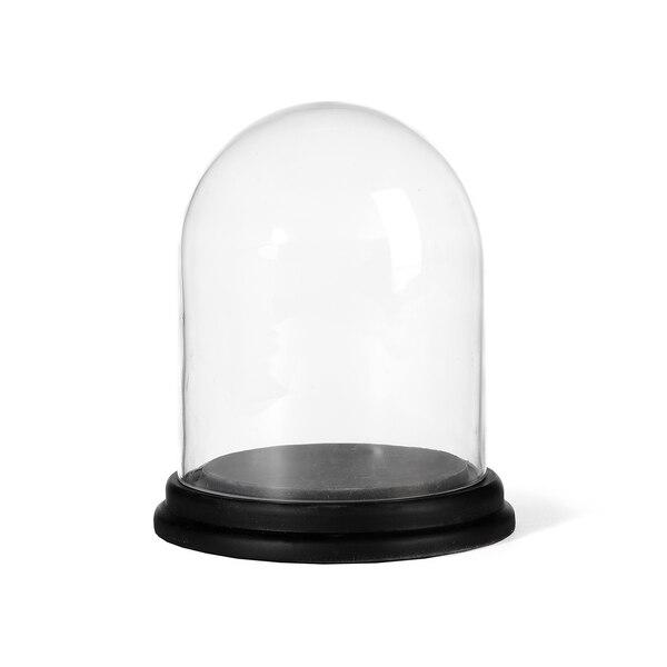 Set Glasglocke mit Base, 2-teilig, schwarz