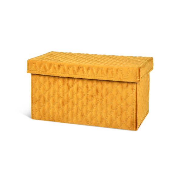 Samt-Box, senfgelb