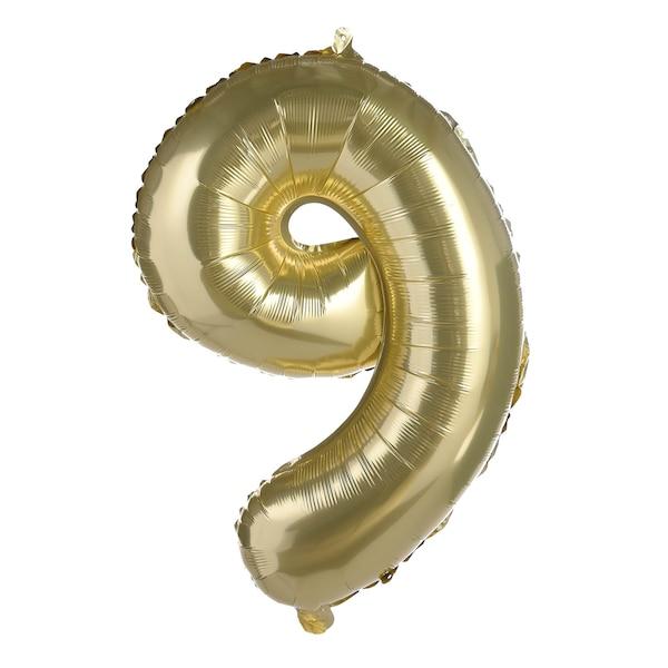 Folianballon XL Nummer 9, altgold