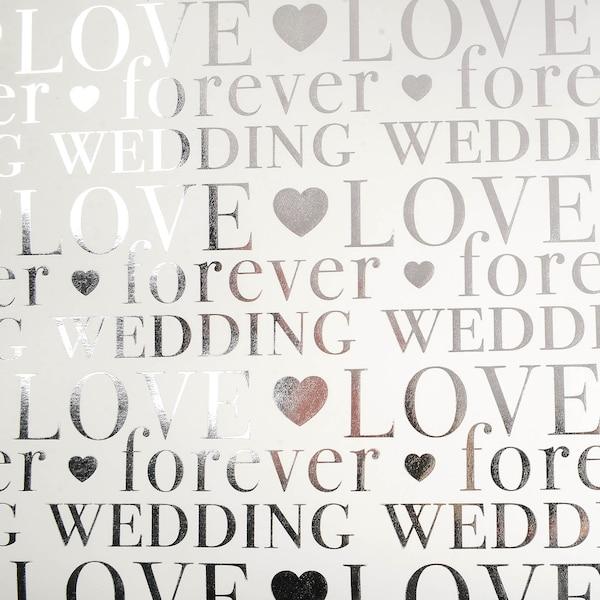 Kraftpapier Love, weiß