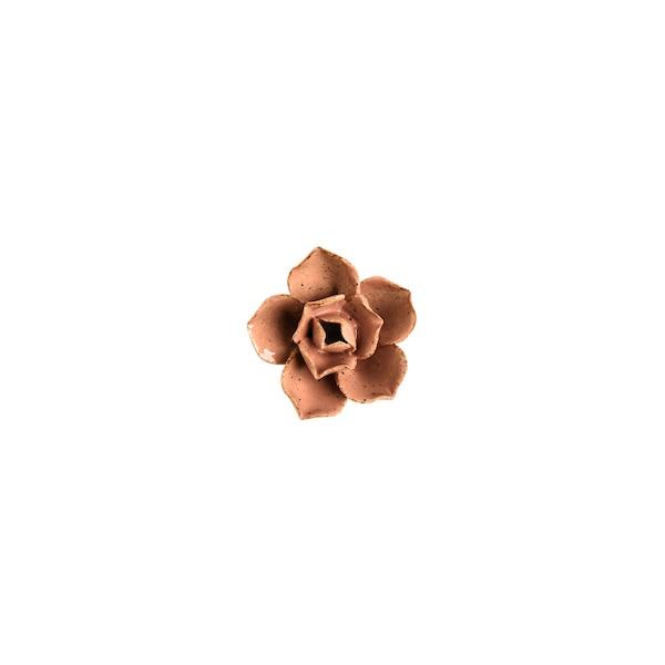 Dekoobjekt Rose, geschlossen, altrosa