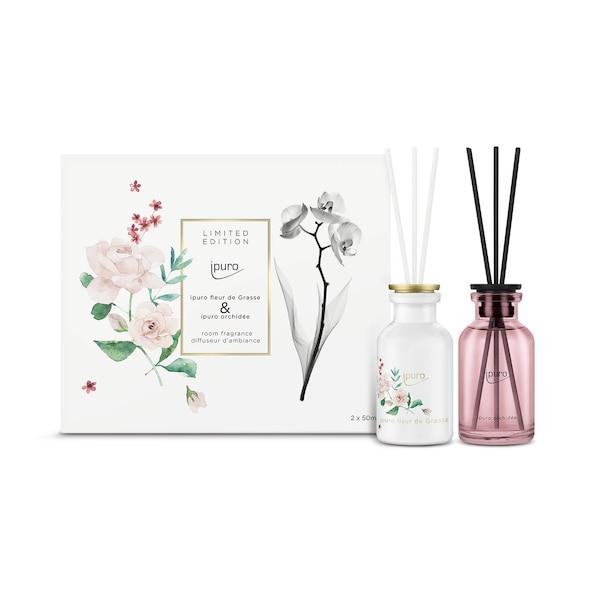 ipuro Raumduft Set Limited Edition, Grasse & Orchidée, 2 Stück, ohne Farbe