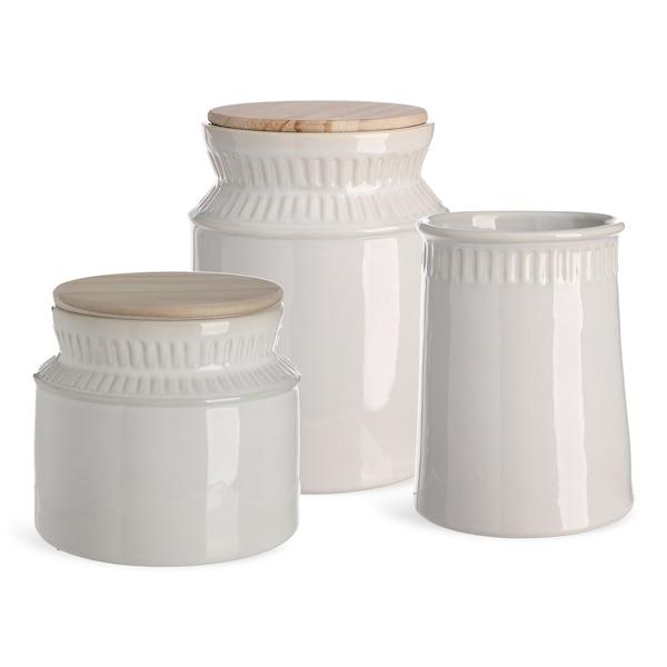 Küchenset Vorratsdose, 3-teilig, weiß