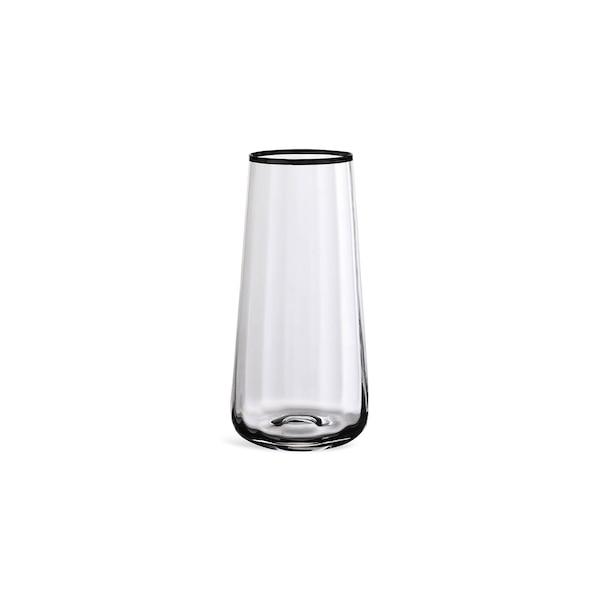 Vase Silveredge aus Glas, silber