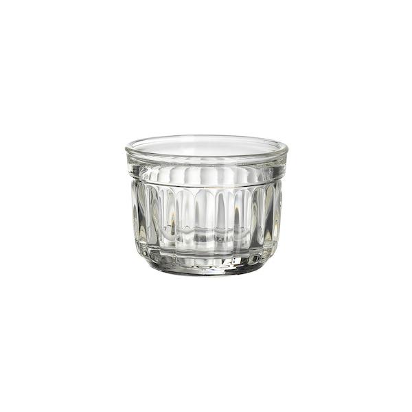 Dipschale aus Glas mit Rillen, klar