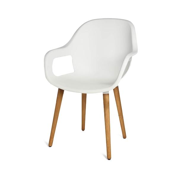 Outdoor-Stuhl mit Armlehne, weiß