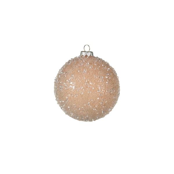 Weihnachtskugel Glimmerpearls, creme