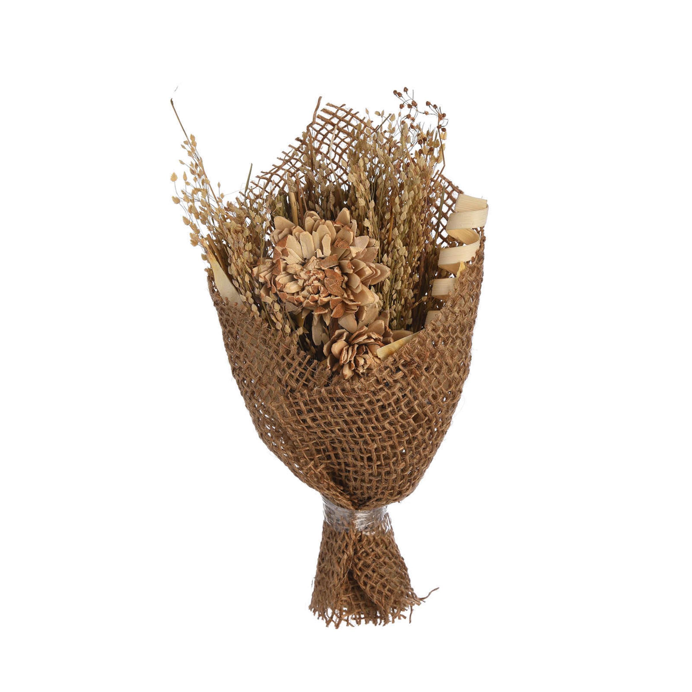 Trockenblumen Bouquet ca.17cm, bunt