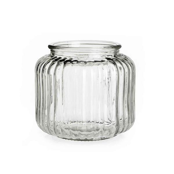 Windlicht aus Glas, klar