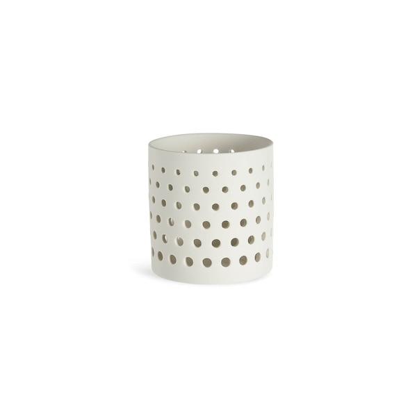 Teelicht Nordic Dot, weiß