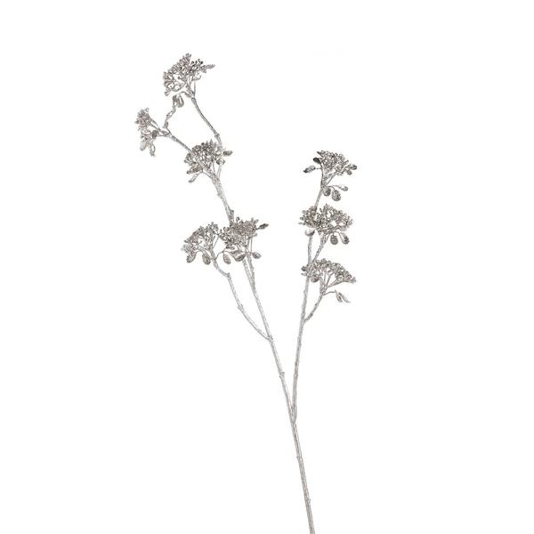 Kunstblume Skimmia, silber