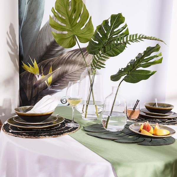 Set de table Monstrera, vert