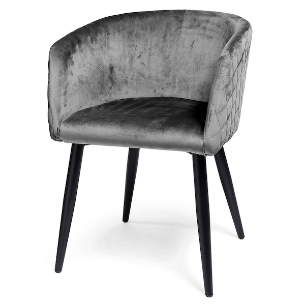 Samt-Stuhl, grau