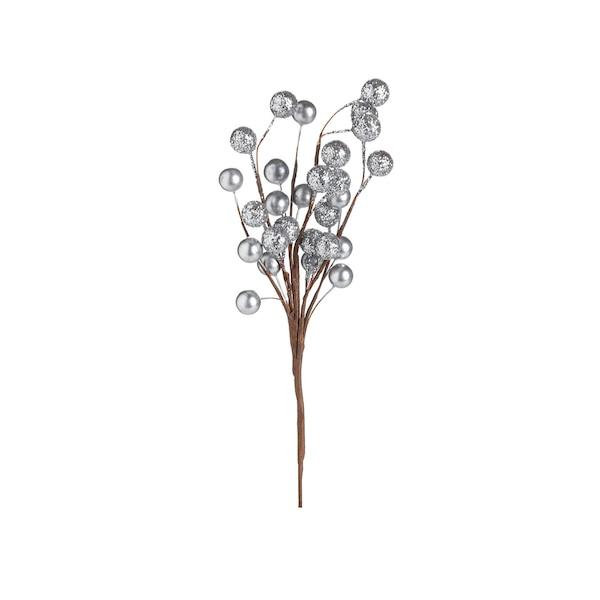 Kunstblumenpick Glam-Bubble, silber