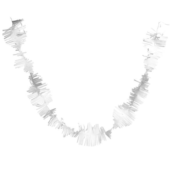 Guirlande à franges, blanc