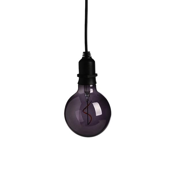 Outdoorlichtobjekt Glühbirne, grau