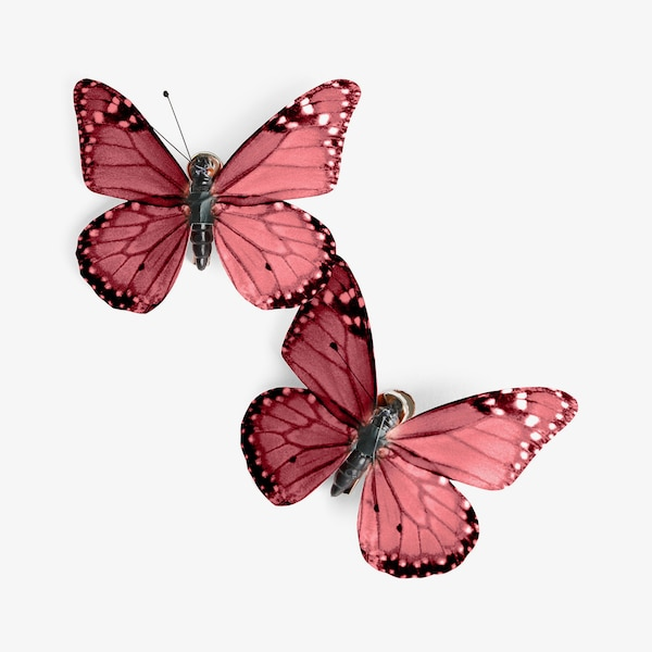 Dekoclip Schmetterling, rosa