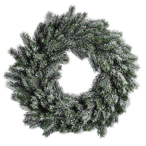 Adventskranz Glitterschnee, grün