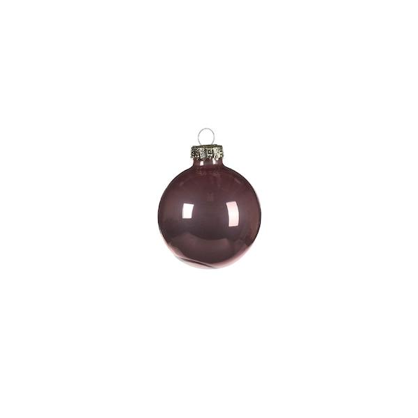Weihnachtskugeln Opal, altrosa