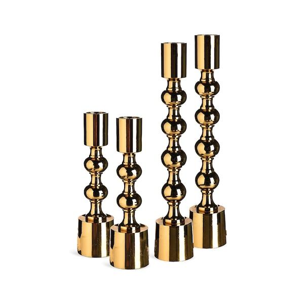 Set Kerzenhalter Bubble, 4-teilig, gold