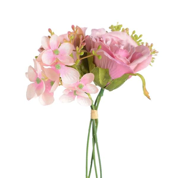 Kunstblumenbündel Ministrauß, rosa
