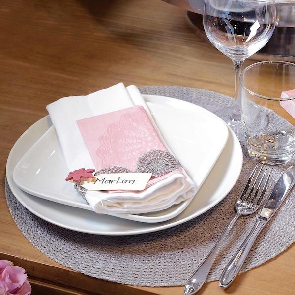Tischset Lace, hellgrau