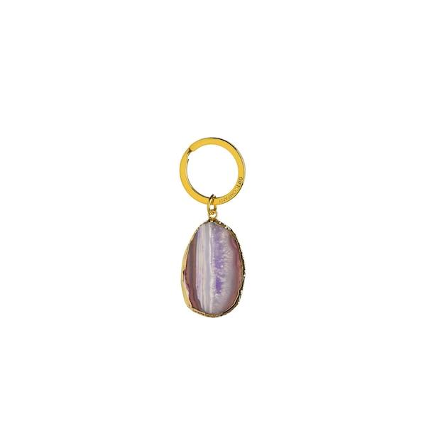 Schlüsselanhänger Stein, lila