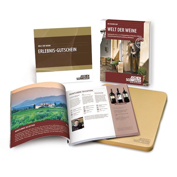 Gutscheinbox Welt der Weine - nur in Österreich erhältlich, bunt