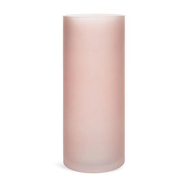 Boden-Vase aus Glas, altrosa