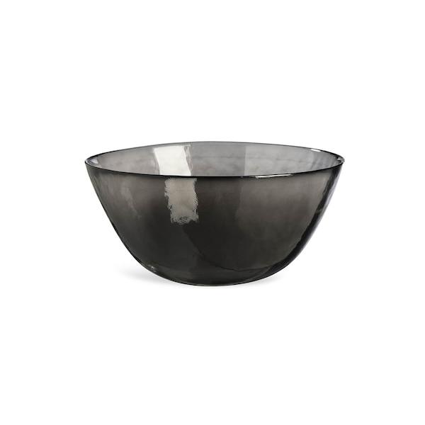 Schale aus Glas, schwarz