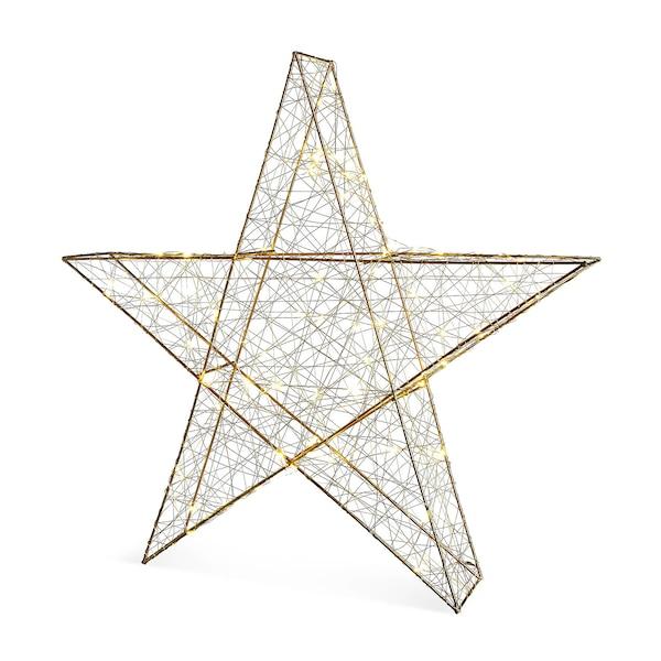 Outdoor Lichtobjekt Stern, gold