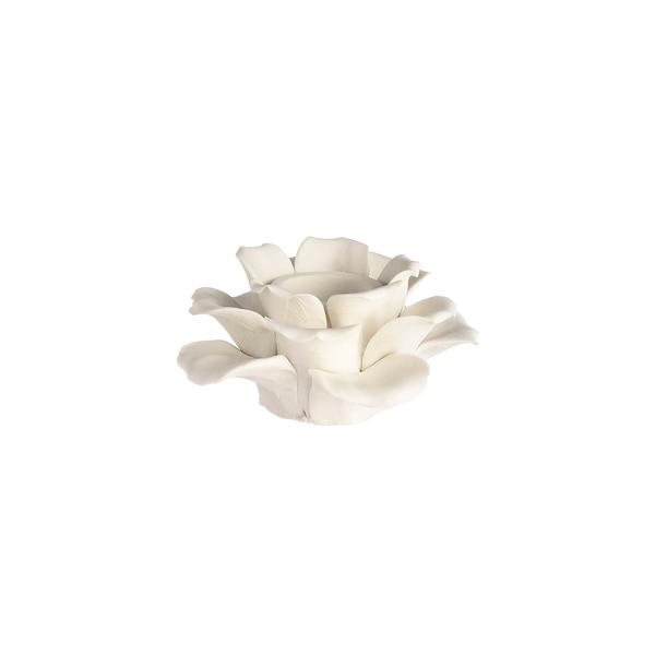 Stabkerzenhalter Blüte, weiß
